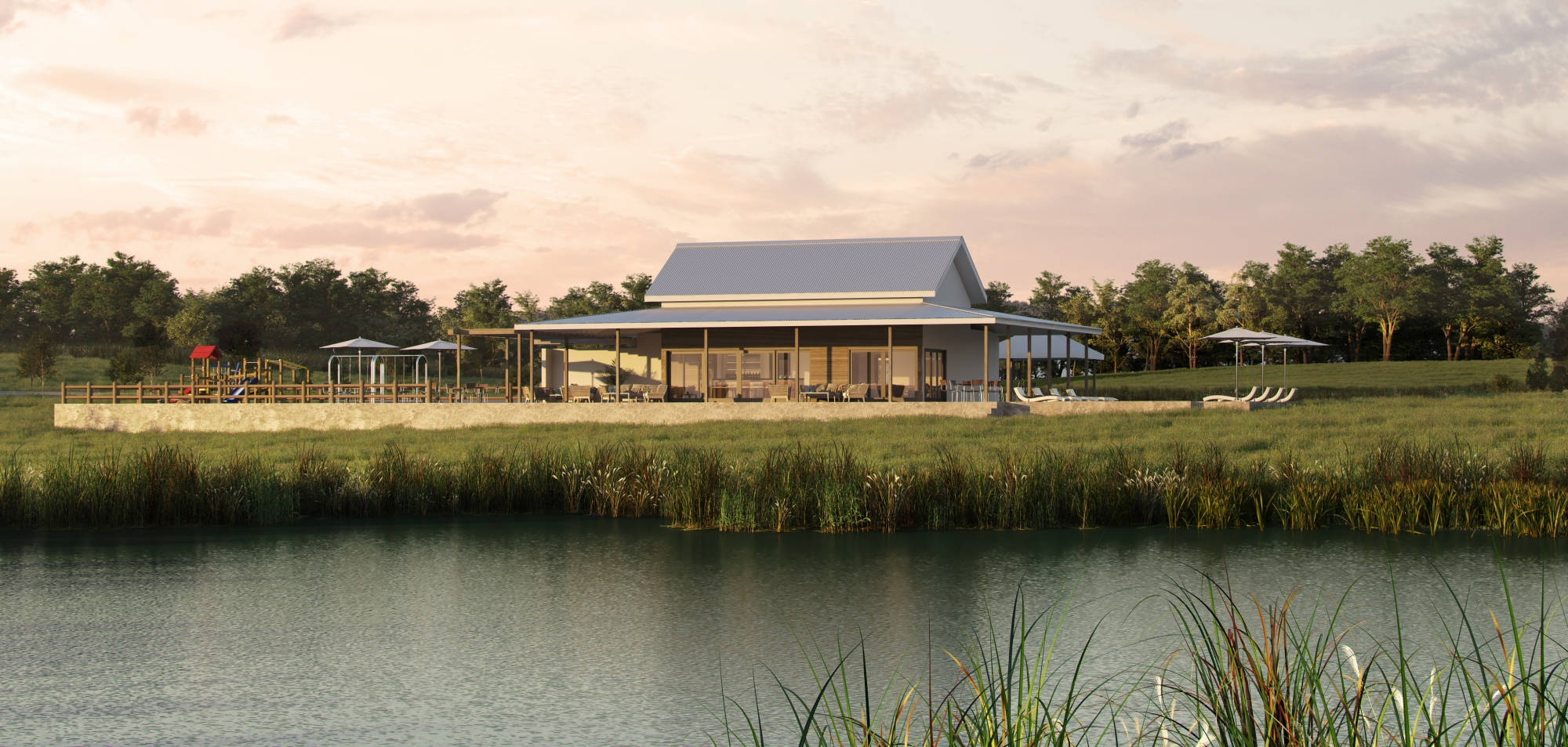 Render of the Springvale Clubhouse